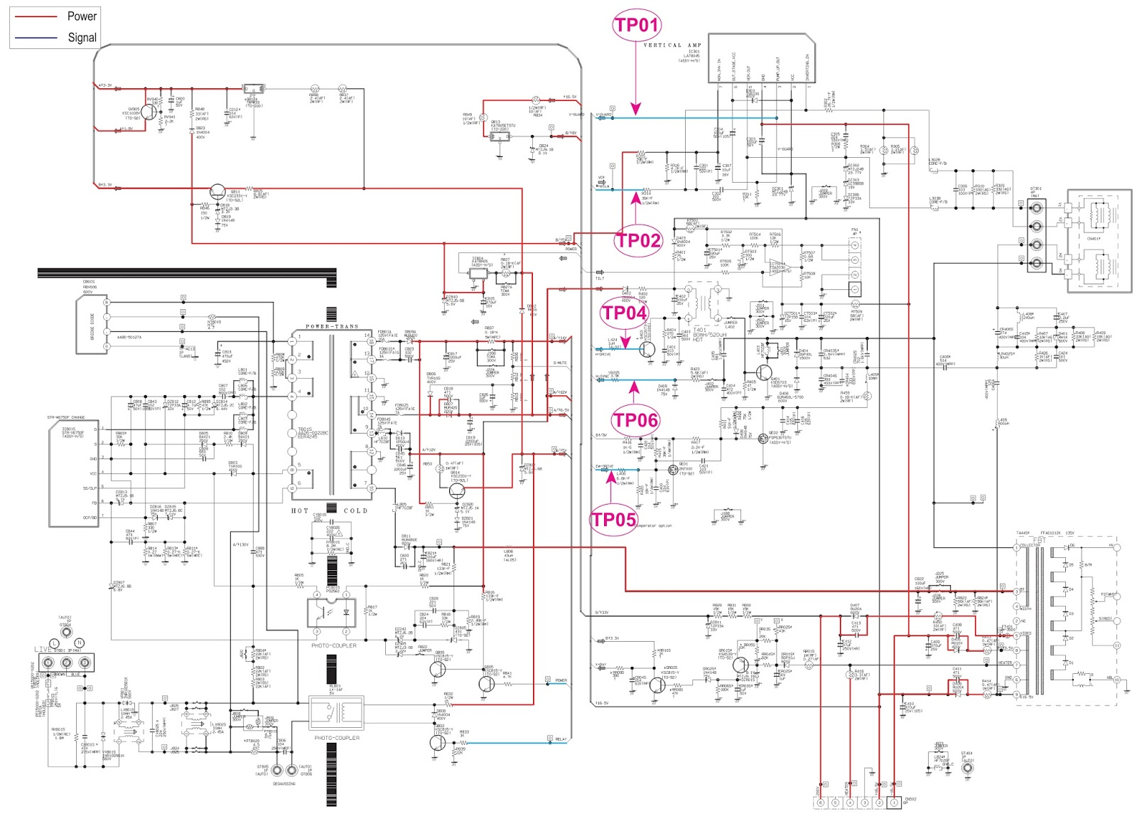 medium resolution of samsung cl29x50 power supply smps schematic circuit diagram str x6750f smps power supply schematic circuit diagram
