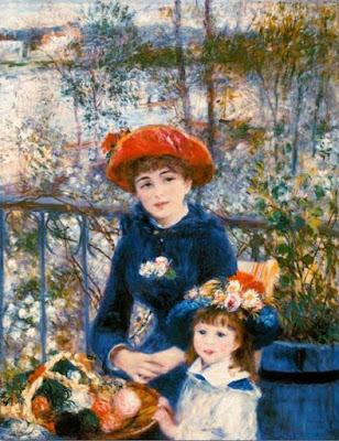 Sur la terrasse - Pierre-Auguste Renoir
