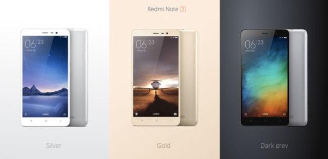 Harga Xiaomi Redmi Note 3 Gold, White, Sliver