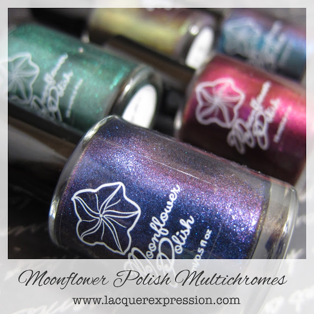 Nail polish swatches and reviews of the Moonflower Polish multichrome collection