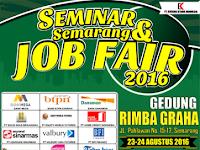 Seminar & Semarang Job Fair di Gedung Rimba Graha Tanggal 23 - 24 Agustus 2016