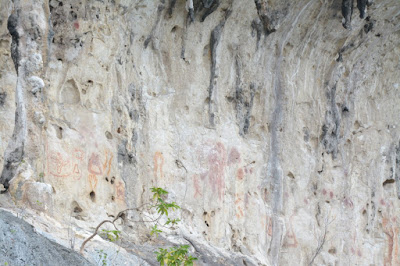 Simbol di dinding Pulau Karst Teluk Triton Kaimana
