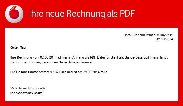 phishing mail alerts vodafone ihre mobilfunk rechnung. Black Bedroom Furniture Sets. Home Design Ideas