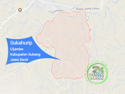 PETA :  Desa Sukahurip, Kecamatan Cijambe