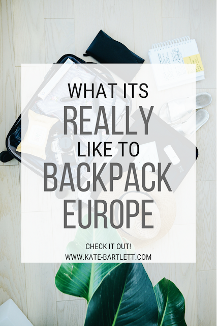 Kate Bartlett, Backpacking through europe as a teen