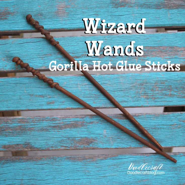 http://www.doodlecraftblog.com/2016/08/wizard-wands-with-gorilla-hot-glue.html