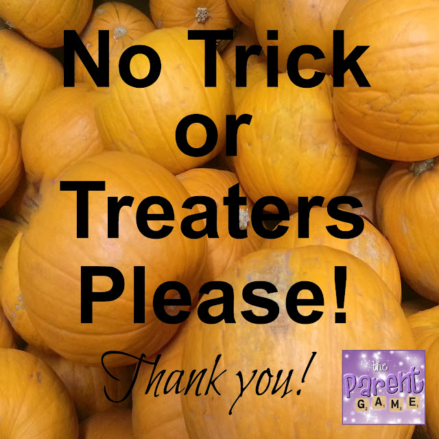 Free Printable No Trick or Treaters Sign