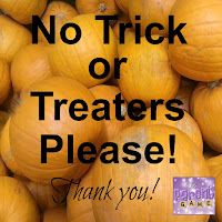 Small No Trick or Treaters Sign