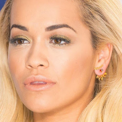 Atomic Sunrise Ear Jacket & Cosmic Cluster Stud Earrings Rita Ora