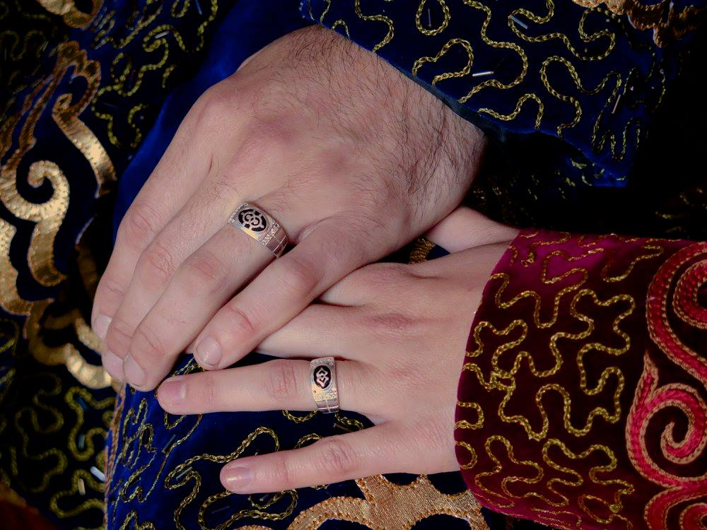 Traditional Mongolian Wedding Rings Image By Therese Faller
