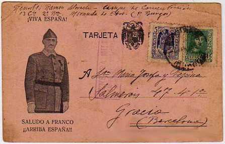 Tarjeta postal del campo de concentración