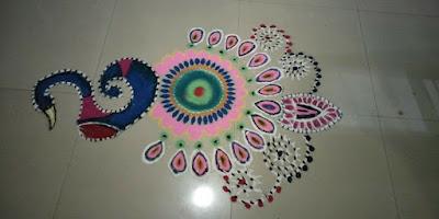 Peacock Rangolis