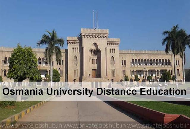 Osmania University Distance Education