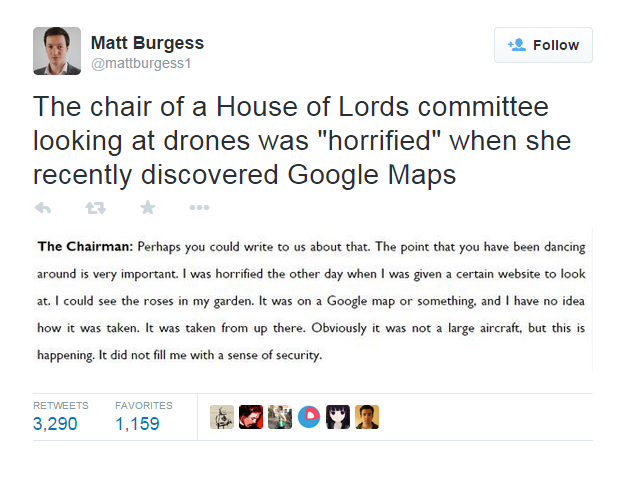 house of lords committee tweet