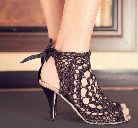 Inspiracion en Zapatos de Crochet