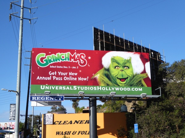 Grinchmas Universal Studios Hollywood 2015 billboard