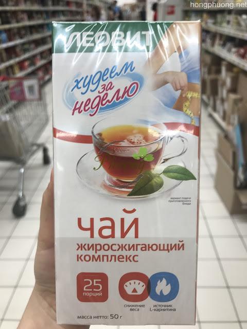 Trà giảm cân Leovit của Nga được chiết xuất từ trà đen và các thảo dược