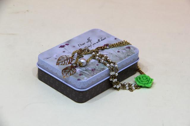 Floral Pearl Bracelet Rakhi