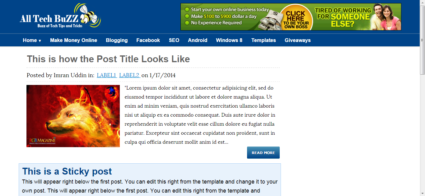 All Tech Buzz Blogger Template Free Download - Get any Template