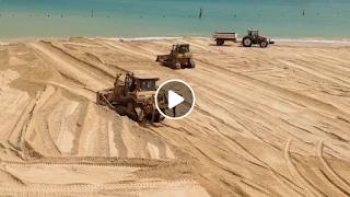 شاطئ رفراف : و إستمرار أشغال طرح الرمال الجديدة شاطئ بمواصفات عالمية VIDEO