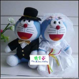 Gambar boneka doraemon menikah