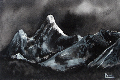 Painting of Mt. Ama Dablam