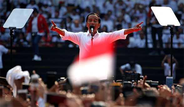 Jokowi menang Pilihan Raya Presiden Indonesia