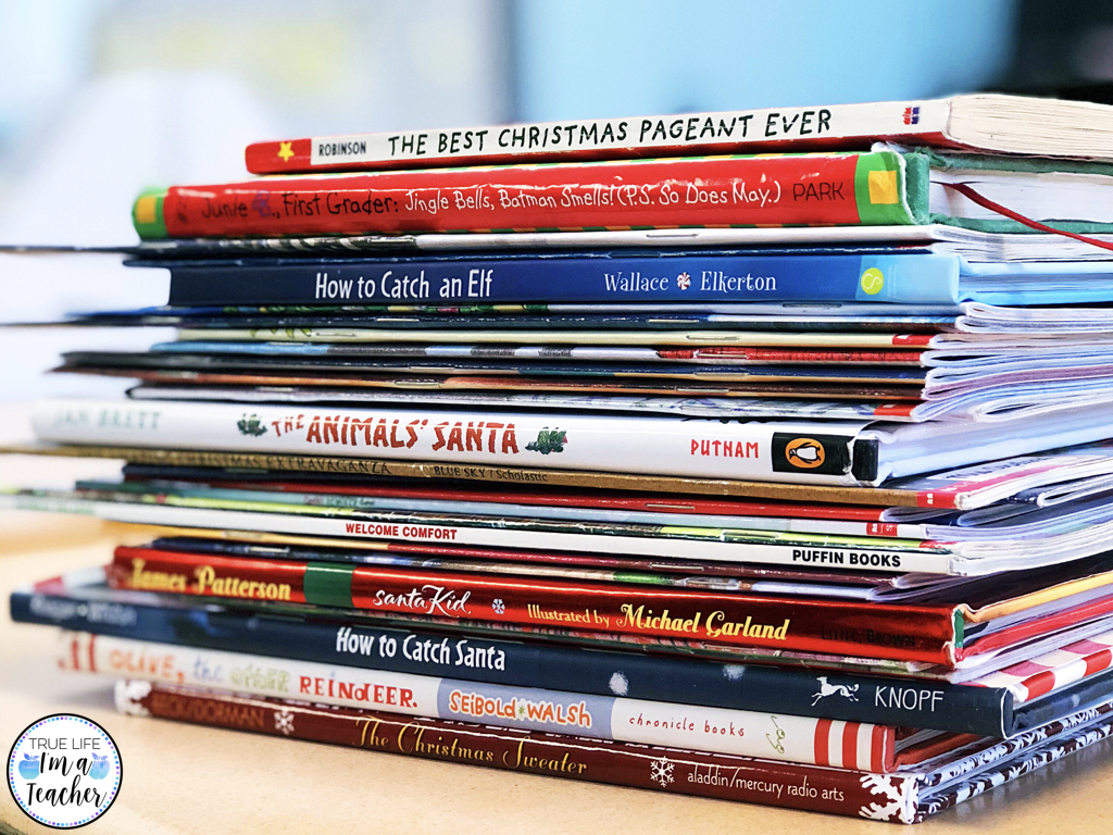 List of Christmas read alouds perfect for elementary classrooms!