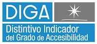 DIGA. Una estrella. Distintivo Indicador del Grado de Accesibilidad.