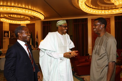 Photo: Pastor Adeboye meets President Buhari in Aso Rock VP Yemi Osinbajo