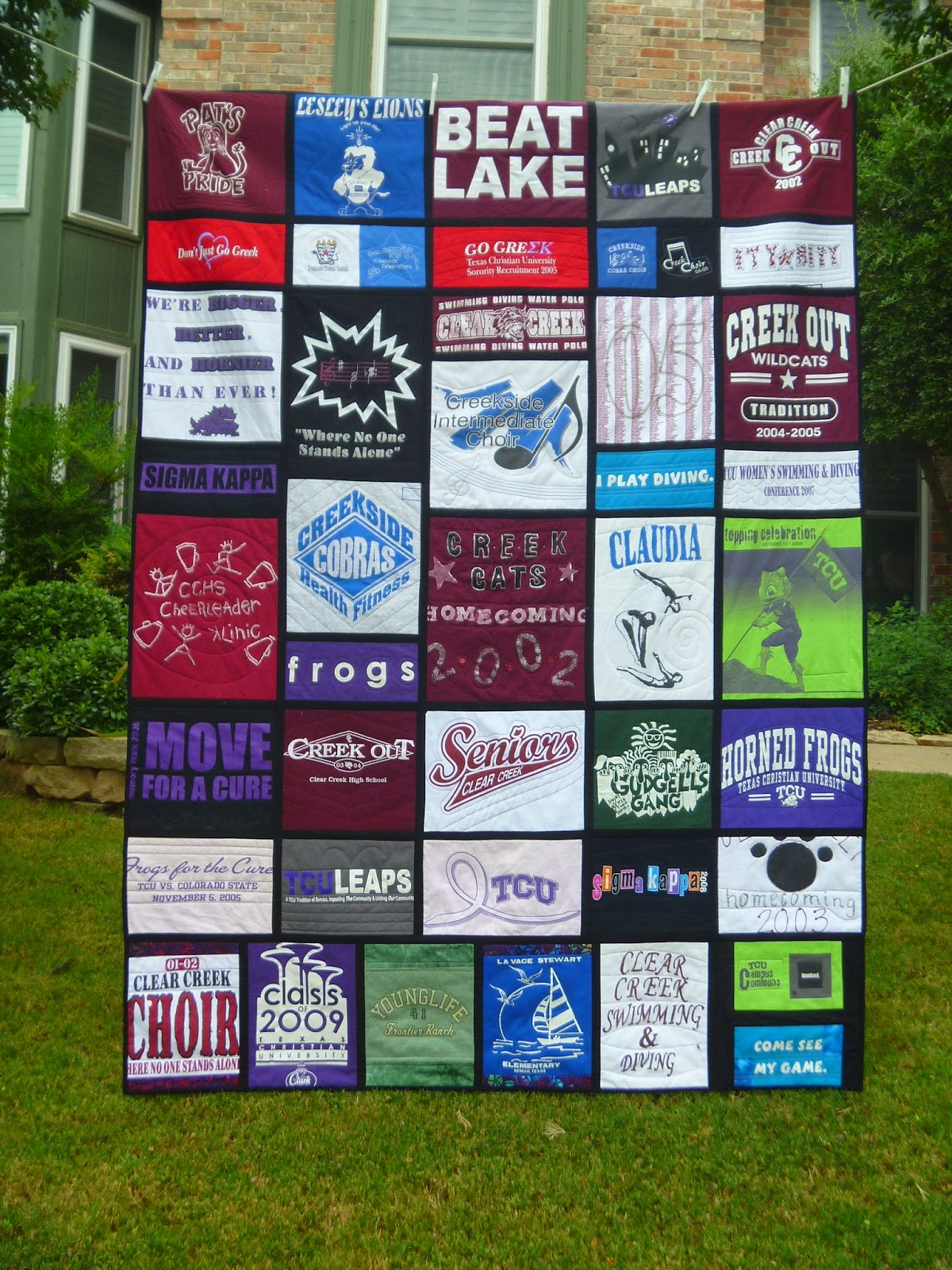 T Shirt Quilt Without Sewing Machine