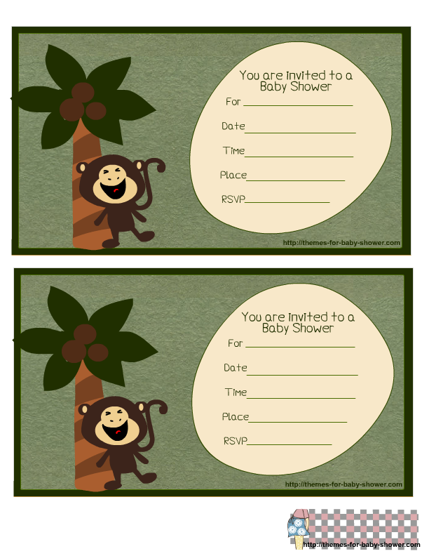 Little Monkey with a Palm: Free Printable Kit.