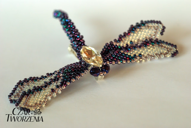 toho 15o brożka ważka koralikowa biżuteria handemade