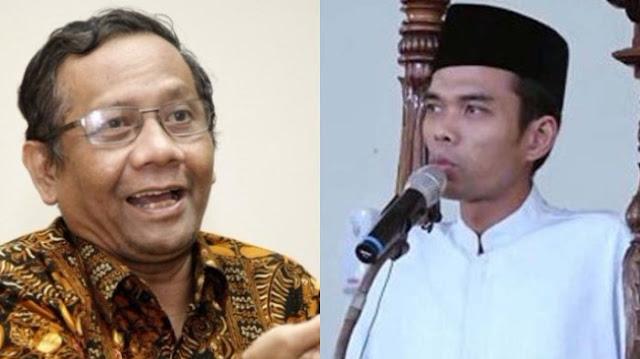 Fans Abdul Somad Sudah Kadung Emosi Ustadznya Tak Masuk Daftar Mubaligh Kemenag, Prof. Mahfud Komentar Menohok Begini....