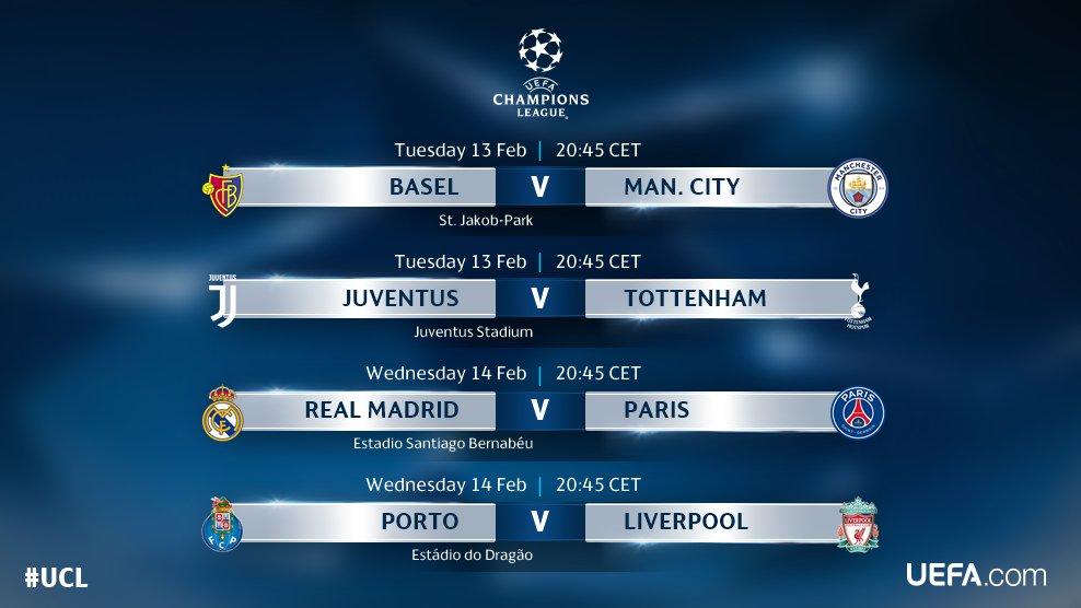 Uefa Champions League Fixtures Table / Uefa Champions ...
