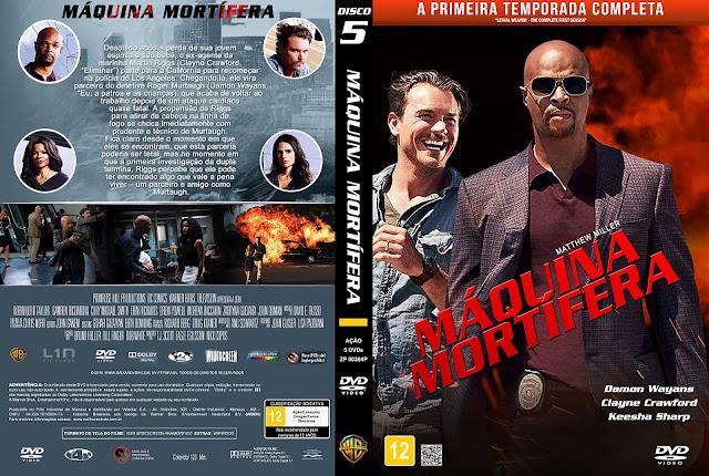 Capa DVD Máquina Mortífera - Primeira Temporada - Disco 5 [Custom]