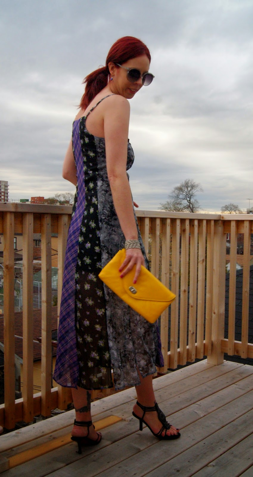 Mis Matched + Fabulous!: Jessica Simpson Dress from Hudson's Bay Fashion Style Tips Summer Melanie.Ps blogger Toronto The Purple Scarf