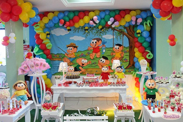festa-de-aniversario-infantil-com-o-tema-da-turma-da-monica-decoracao