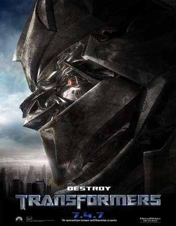 Poster Of Transformers 2007 Dual Audio 450MB BRRip 720p ESubs HEVC Free Download Watch Online Worldfree4u