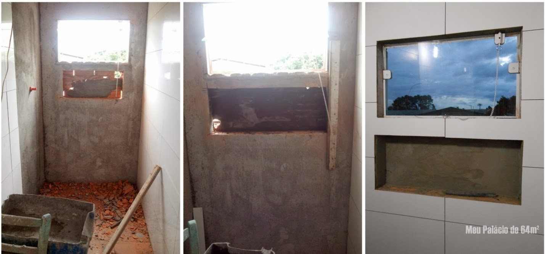 Construindo um Castelinho # Nicho Embaixo Da Janela Banheiro