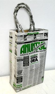 handmade punga cadou ziare
