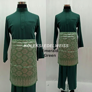 Baju Melayu Cekak Musang  Emerald Green