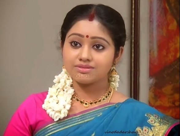 Actress Meghna Vincent in Tamil Serial Daivam Thanta Veedu