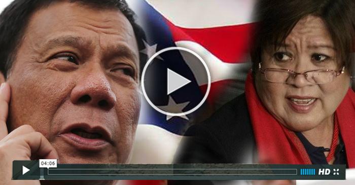 BREAKING: WATCH De Lima Balak Ng Lumabas Ng Bansa Ayon Kay Duterte