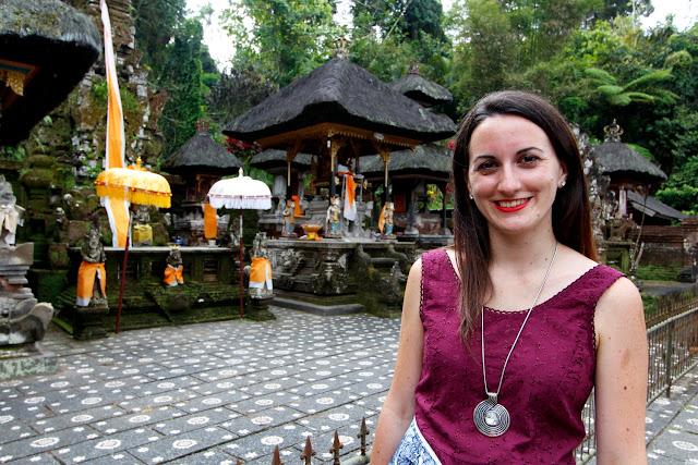 Lena en Pura Gunung Kawi