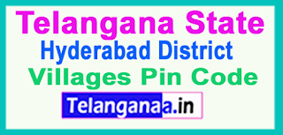 Hyderabad District Pin Codes in Telangana State