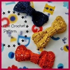 Corbata de pajarita a crochet