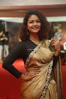 Aditi Myakal look super cute in saree at Mirchi Music Awards South 2017 ~  Exclusive Celebrities Galleries 015.JPG
