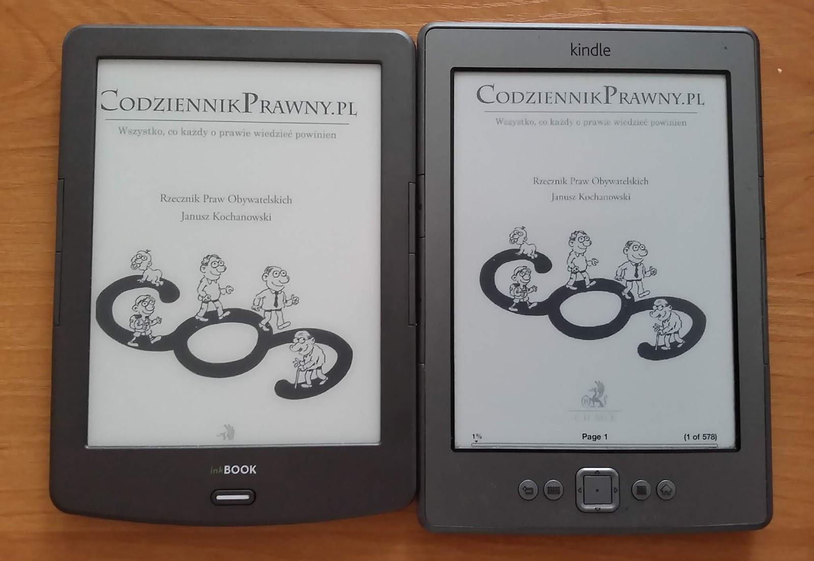 InkBOOK Classic 2 vs Kindle Classic - porównanie ekranów