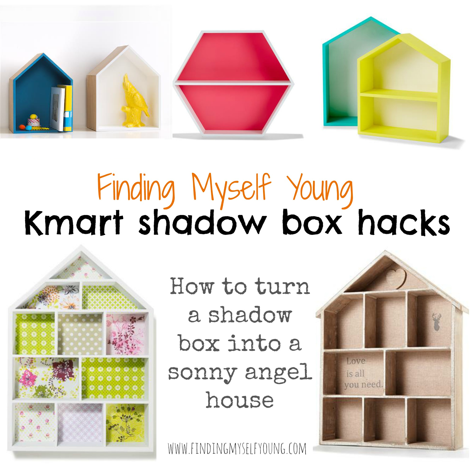 Kmart Hack How To Transform Shadow Boxes Into Sonny Angel Houses Finding Myself Young